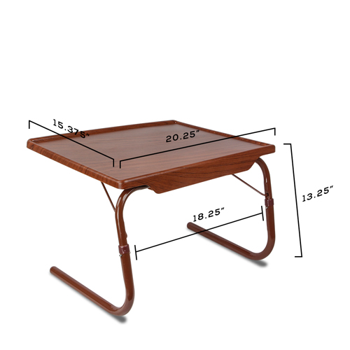 1 woodgrain breakfast bed mate portable laptop folding table tray