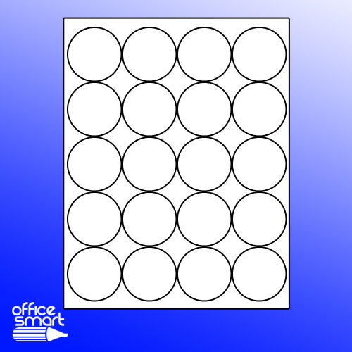 Avery Compatible 20-UP Circle Labels