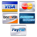 We accept Visa, MasterCard, Discover, American Express, PayPal, and Google Checkout!